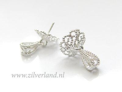 Sterling Zilveren Hangeroog met Parelschotel met Pin