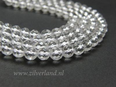 6mm Bergkristal Edelstenen Kralen- A Kwaliteit, Facet