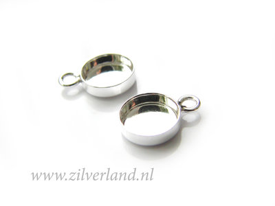 8mm Sterling Zilveren Hanger voor UV Hars/Resin of Cabochons