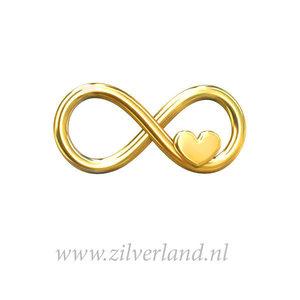 Sterling Zilveren Connector- Infinity met Hartje Verguld