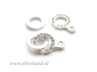 Sterling Zilveren Sluiting met Kristallen