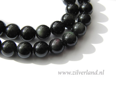 8mm Regenboog Obsidiaan Kralen