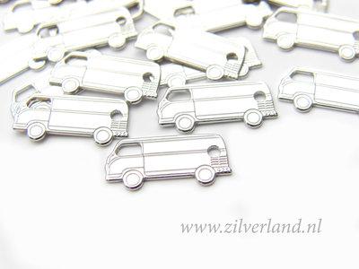 1 Stuk Sterling Zilveren Hanger- Volkswagen Bus Gerhodineerd