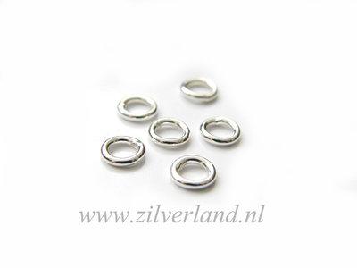 10 Stuks 1,0x5,30mm Gesloten Sterling Zilveren Montagering