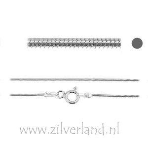 0,70mm Sterling Zilveren Slangencollier- 45cm