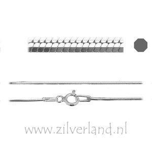 0,90mm Sterling Zilveren Slangencollier- 45cm