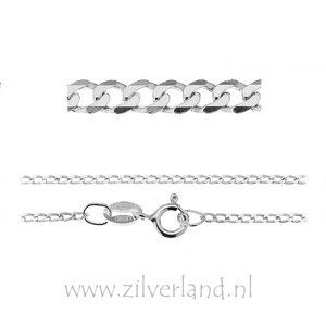1,35mm Sterling Zilveren Collier Gourmet- 45cm