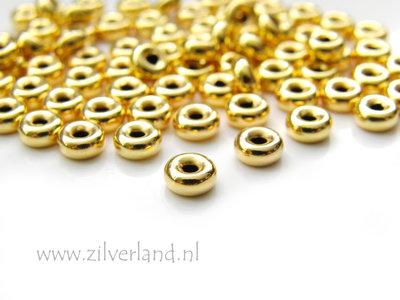 10 Stuks 5,5mm Sterling Zilveren Kralen- Verguld