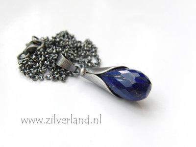Handgemaakte Zilveren Ketting met Lapis Lazuli