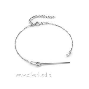 15cm Sterling Zilveren Armband met 3cm Kettelstift