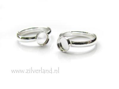 - Sterling Zilveren Ring voor UV Hars/Resin of Cabochons