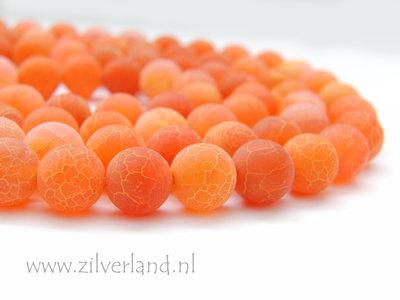 10mm Oranje Vuuragaat Edelstenen Kralen- Mat