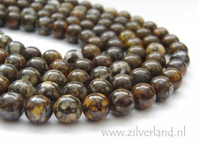 10mm Bruine Peruaanse Opaal Edelstenen Kralen