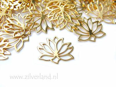 1 Stuk Sterling Zilveren Hanger/Chandelier- Lotusbloem Verguld