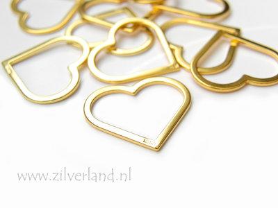 Sterling Zilveren Hanger- Hart Verguld