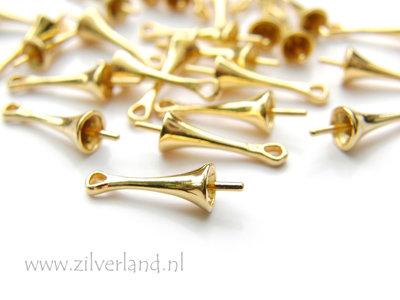 Sterling Zilveren Hangeroog met Kapje met Pin- Verguld