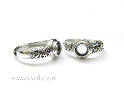 Sterling Zilveren Ring voor 6mm Cabochon