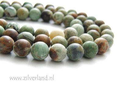 8mm Groene Opaal Edelstenen Kralen- Mat