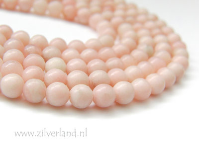6mm Roze Opaal Edelstenen Kralen