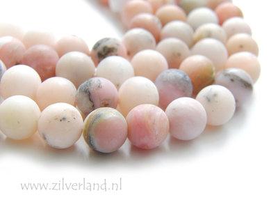 8mm Peruaanse Roze Opaal Edelstenen Kralen- Mat