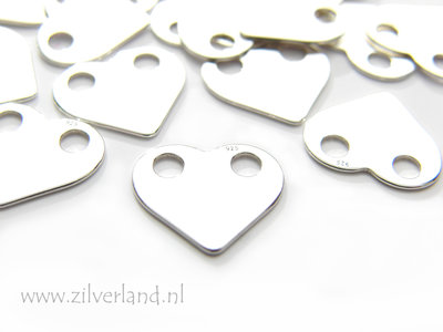 Sterling Zilveren Hanger- Hart 2 Gats