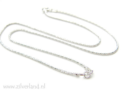1,2mm Sterling Zilveren Collier- 42cm