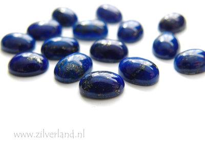 1 Stuk 8x6mm Lapis Lazuli Cabochon