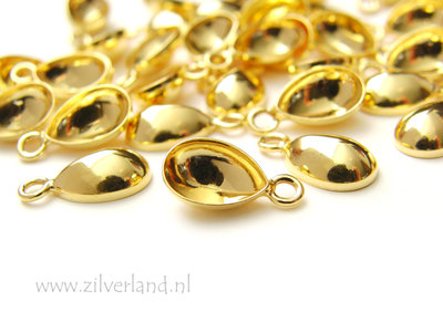 -10mm Sterling Zilveren Hanger voor UV Hars/Resin of Swarovski Druppel- Verguld