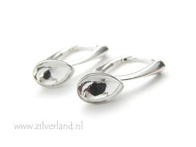 Sterling Zilveren Oorhaken voor UV Hars/Resin of 10mm Swarovski Druppel
