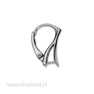 Sterling Zilveren Oorbelhaken met Klem- Gerhodineerd