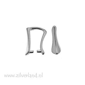 1 Stuk Sterling Zilveren Hangerklem- Gerhodineerd