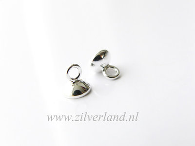 2 Stuks 6mm Sterling Zilveren Kraalhanger, Parelschotel