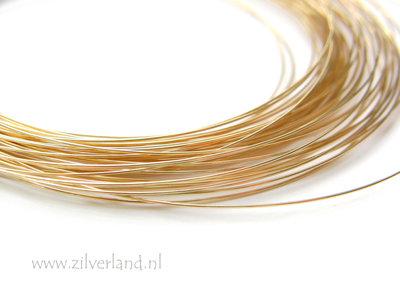 50 cm 0,4mm Sterling Zilveren Draad- Verguld