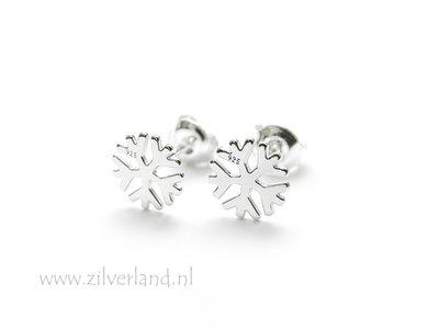 - Sterling Zilveren Oorstekers- Sneeuwvlokjes