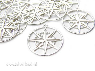 Sterling Zilveren Hanger- Kompas