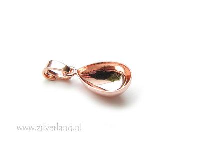 14mm Sterling Zilveren Hanger voor UV Hars/Resin of Swarovski Druppel- Rose Verguld
