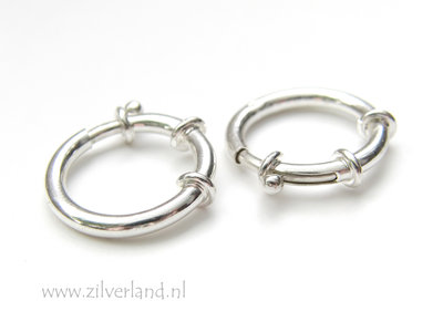 20mm Sterling Zilveren Veerring Slot