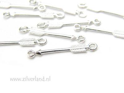 Sterling Zilveren Connector- Pijl