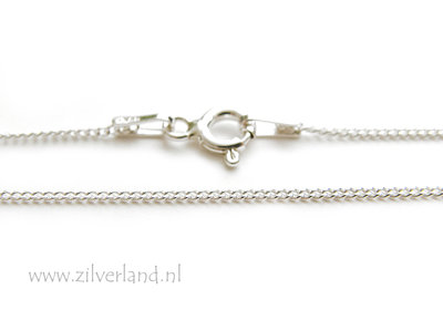 1,0mm Sterling Zilveren Collier Gourmet- 45cm