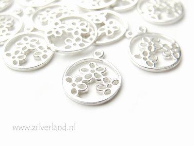 Sterling Zilveren Hanger- Bloemetjes