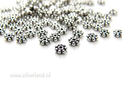 10 Stuks 3mm Sterling Zilveren Spacers- Geoxideerd