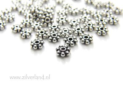 10 Stuks 4mm Sterling Zilveren Spacers- Geoxideerd
