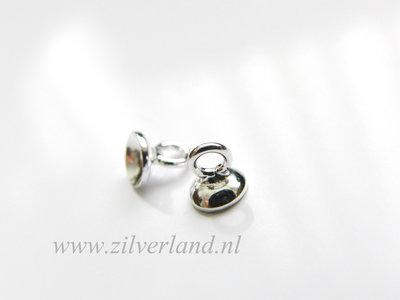 2 Stuks 5mm Sterling Zilveren Kraalhanger, Parelschotel