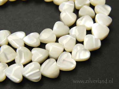 8mm Mother of Pearl Kralen- Hartjes