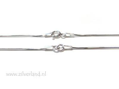 0,90mm Sterling Zilveren Slangencollier- 41cm