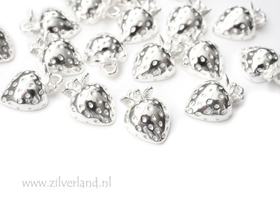 Sterling Zilveren Hanger- Aardbei
