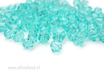 10 Stuks 4mm Swarovski Bicone Kristallen- Turquoise
