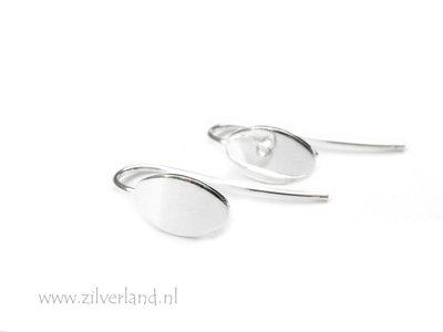 Sterling Zilveren Oorhaken- Ovaal