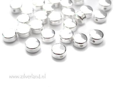6mm Sterling Zilveren Kraal- Rond