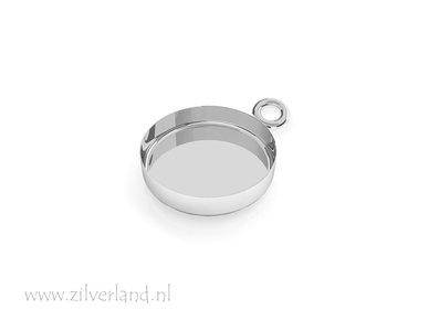 14mm Sterling Zilveren Hanger voor UV Hars/Resin of Cabochons